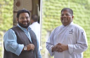 Osama Jalali with Chef Ravitej Nath.