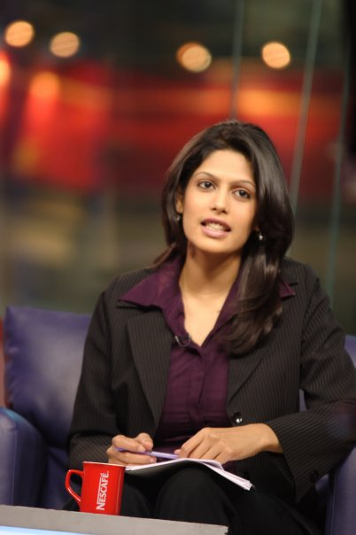 """Palki Sharma Upadhyay calls herself """"an accidental journalist, who strayed into the newsroom by chance!"""" Photo credit: CNN-IBN"""