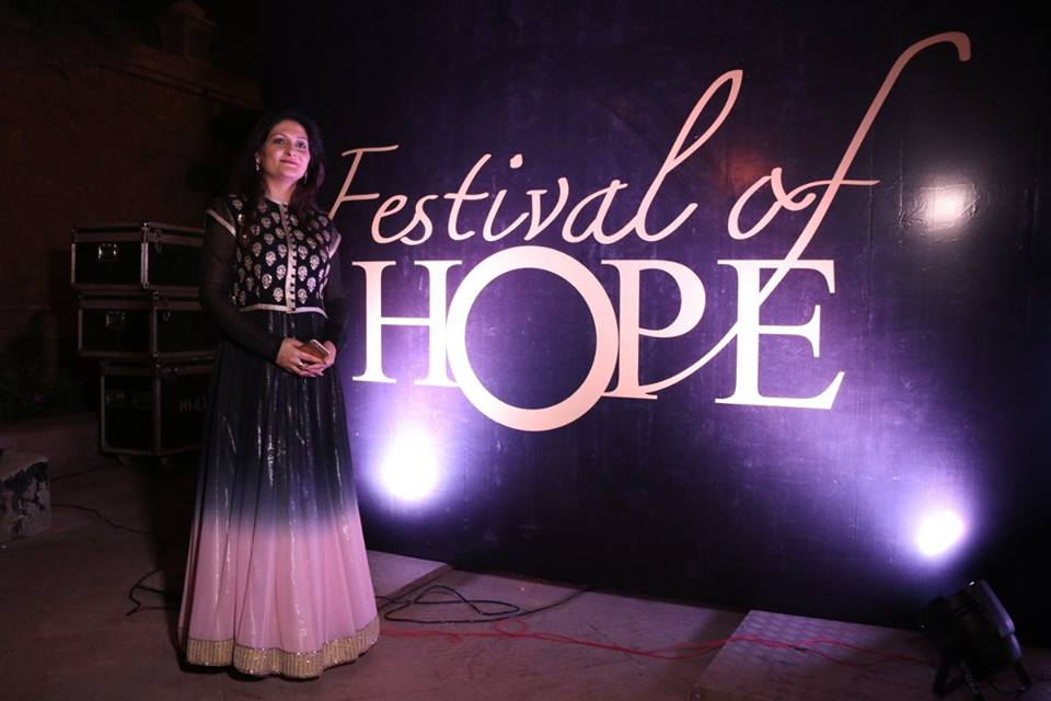 Shalini Vig Wadhwa's philanthropic foundation, The Festival of Hope, is a cancer awareness programme in association with the Indian Cancer Society. Photo credit: The Festival of Hope