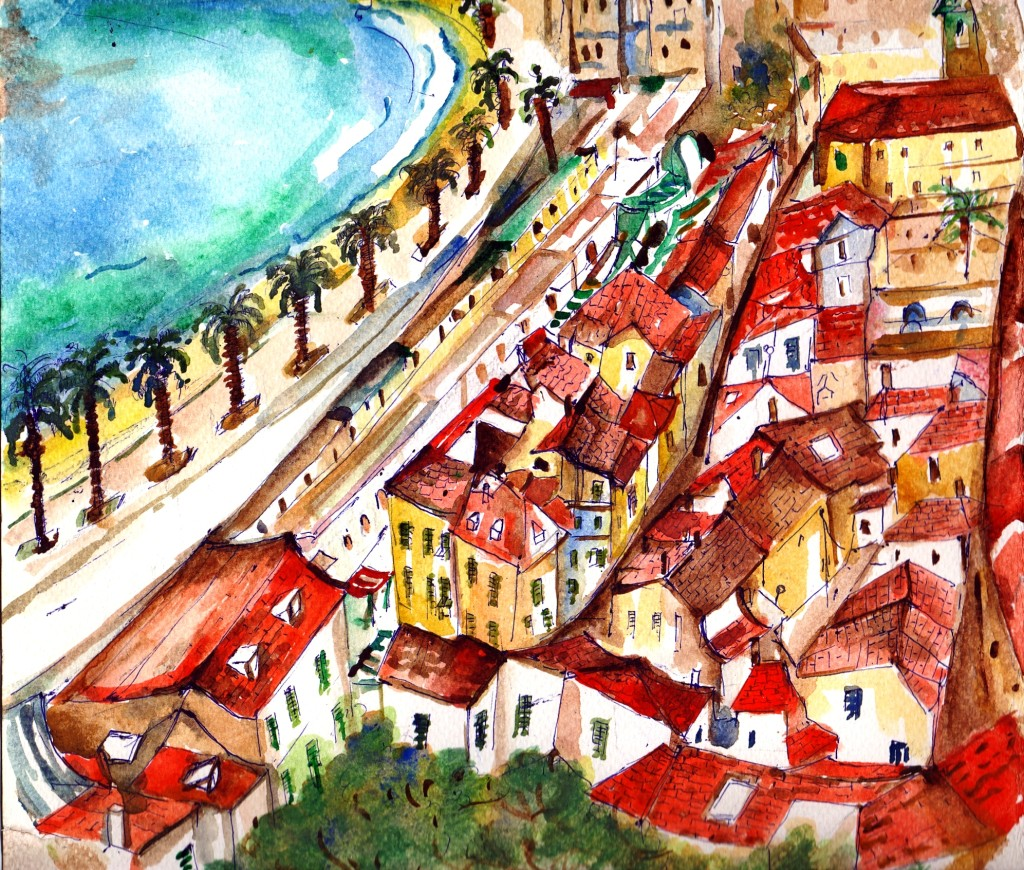 Rooftops in Nice, France.