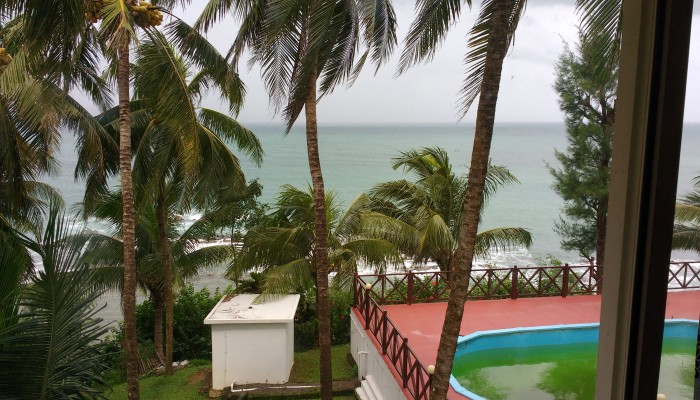 A view of the Bay of Bengal from our room.
