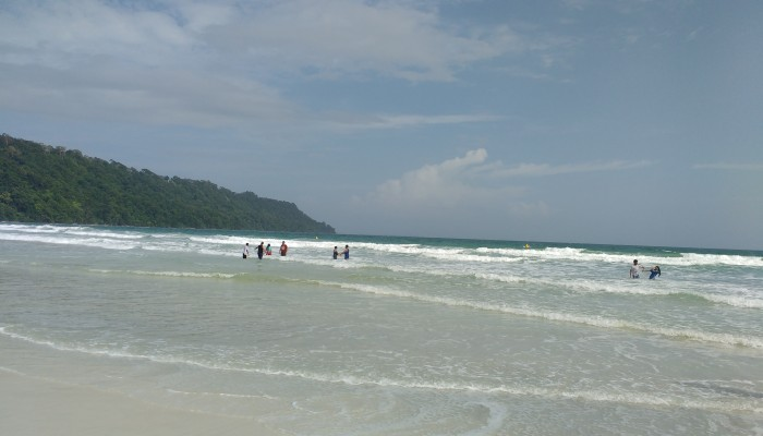 The beaches in Havelock Island are beautiful: all white sand and blue water.