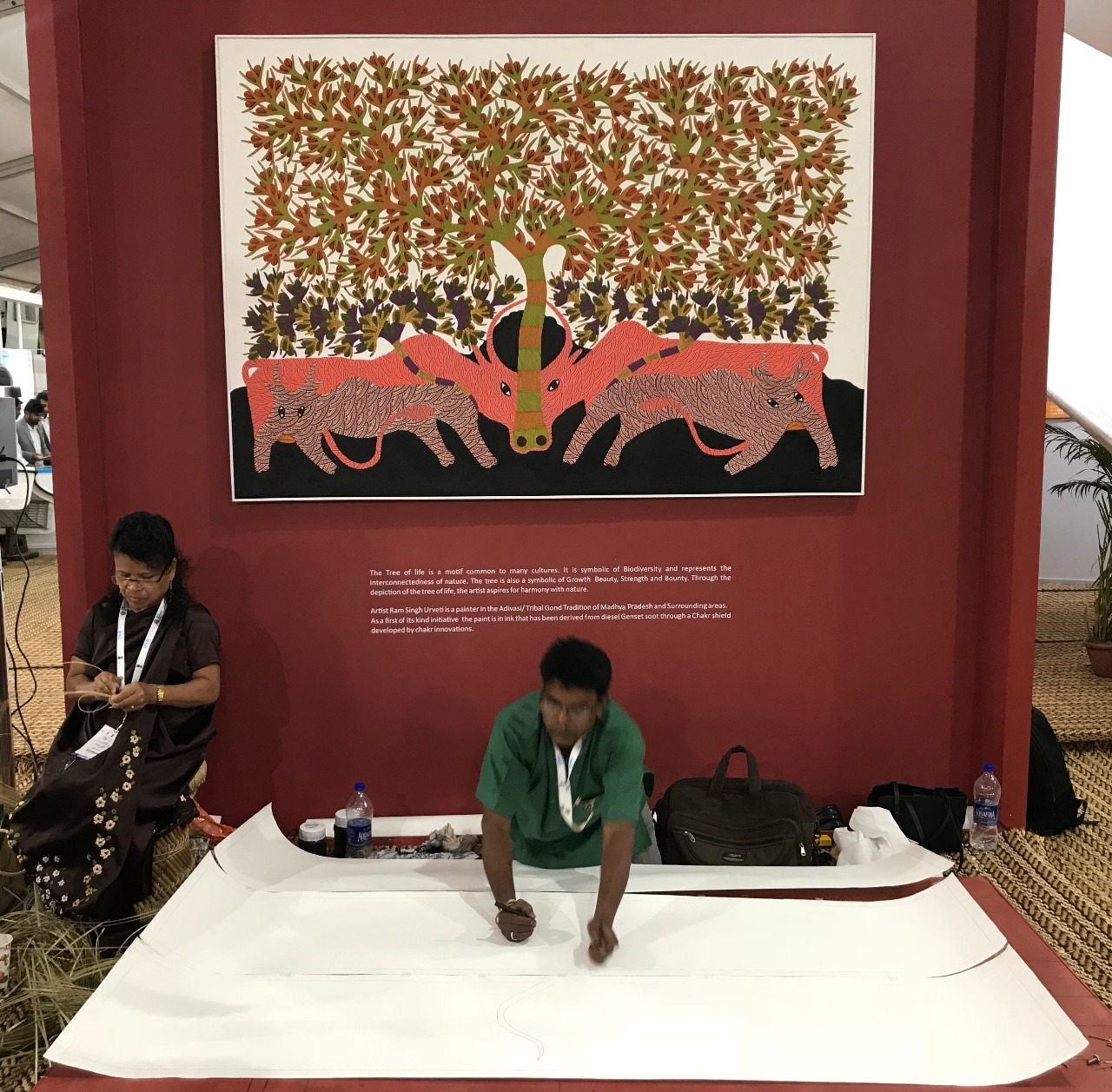 Ram Singh Urveti is a painter in the Adivasi/tribal Gond tradition of Madhya Pradesh. Photo Credit: Navraj Bhatia